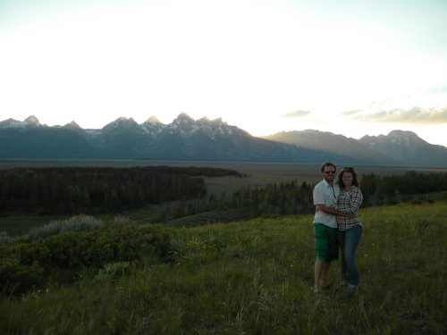 Little known fact: Forest Service land camping has the best views of the Tetons.
